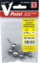 Dragon Flexihead 6-pack, mix - 5-7,5-10-15-20-25 g