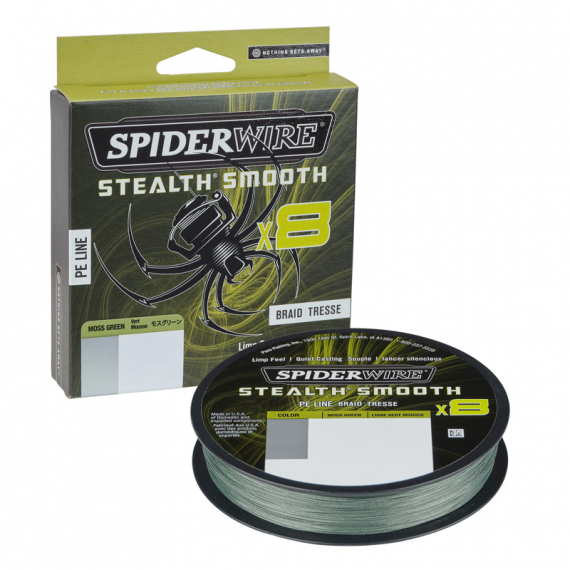 SpiderWire Stealth Smooth Braid 8 Moss Green 150m i gruppen Fiskelinor / Flätlinor & Superlinor hos Sportfiskeprylar.se (1422073r)