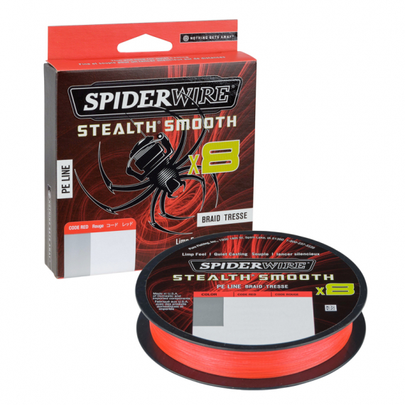 SpiderWire Stealth Smooth braid 8 150m Red i gruppen Fiskelinor / Flätlinor & Superlinor hos Sportfiskeprylar.se (1422122r)