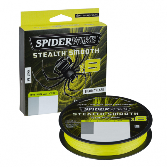 Spiderwire Stealth Smooth Braid 8 Hi-Vis Yellow i gruppen Övrigt / PerchFight hos Sportfiskeprylar.se (1422163r)