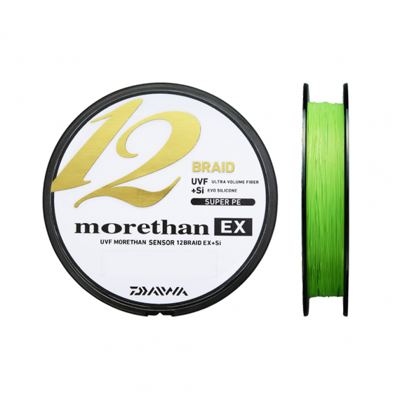 Daiwa Morethan 12 Braid 135m Lime Green i gruppen Fiskelinor / Flätlinor & Superlinor hos Sportfiskeprylar.se (210570r)