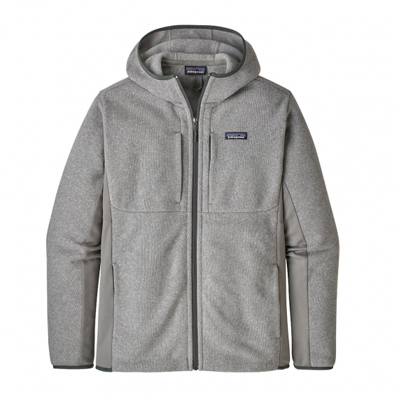 Patagonia M\'s LW Better Sweater Hoody Feather Grey i gruppen Kläder / Tröjor & T-shirts hos Sportfiskeprylar.se (26085-FEA-Mr)