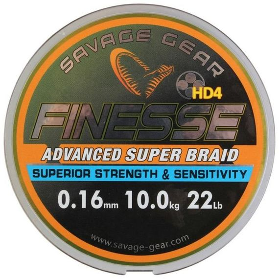 Savage Gear Finezze HD4 Braid 120m Grey i gruppen Fiskeprylar / Fiskelinor / Flätlinor & Superlinor hos Sportfiskeprylar.se (46905r)