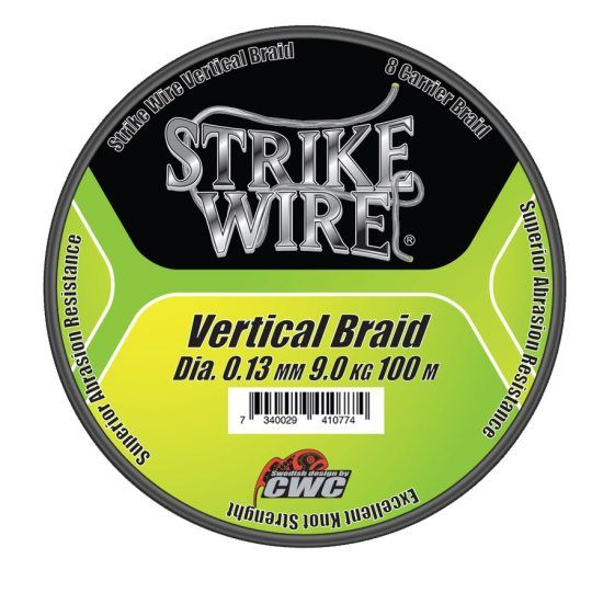 Strike Wire Vertical Braid X8 Kiwi Green - 100m i gruppen Fiskeprylar / Fiskelinor / Flätlinor & Superlinor hos Sportfiskeprylar.se (60-V015-01007r)