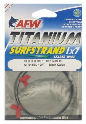American Fishing Wire Titanium Surfstrand Bare 1x7 Titanium Leader Wire