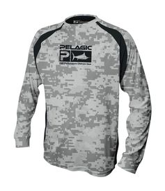 Pelagic Vaportek Digital Camo T-Shirt Grey L