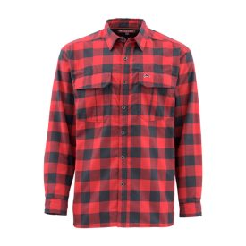 Simms ColdWeather Shirt Red Buffalo Plaid, L