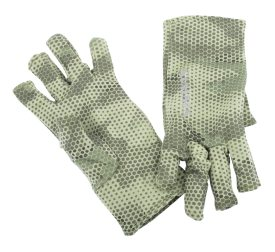 Simms Ultra-Wool Core 3-Finger Liner Hex Camo Loden L
