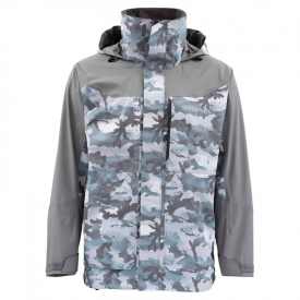 Simms Challenger Jacket Hex Flo Camo Grey Blue M