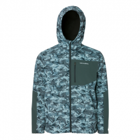 Grundéns Bulkhead Fleece Hooded Jacket, Dark Slate Camo - L