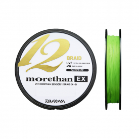 Daiwa Morethan 12 Braid 135m Lime Green, 0.08mm