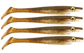 Pig Shad 15cm Nano Size (4-pack) - Baby Brown