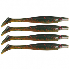 Pig Shad 15cm, 20g (4-pack) - Chartreuse Mullet