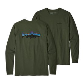 Patagonia Men's Long-Sleeved Fitz Roy Trout Responsibili-Tee NOMG, Medium