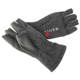 Eiger Fleece Glove Half Fingers Dark Grey, L