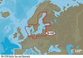 EN-N299: C-MAP Baltic Sea And Denmark, MAX-N : Wide