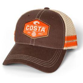 Costa Reel Trucker Hat XL - Brown Stone Orange f88a7bca2012a