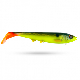 Eastfield Custommålat Viper 40cm, 585g - Greenback Shad Hot Tail