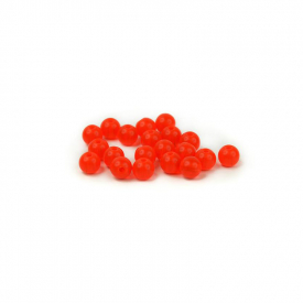 Articulated Beads 6mm - Fl. Salmo Red
