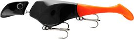 Headbanger Shad 22 cm Sinking - Black/Orange
