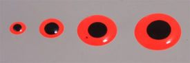 Epoxy Eyes 9mm - Fluo Red