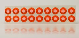 Epoxy Eyes 9mm , White Orange