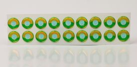 Epoxy Eyes 11mm , White Chartreuse