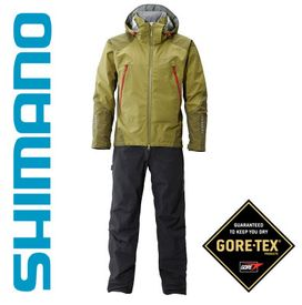 Shimano Gore-tex Suit - Black/Olive, Large