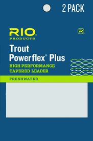 RIO PowerflexPlus Leader 9ft 0X 0,27mm/8,2kg 2-pack