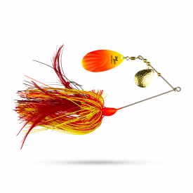 Rad Dog Spinnerbait - Red yellow Flame