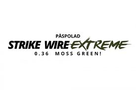 Påspolad Strike Wire Extreme Moss Green 0,36mm