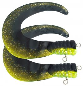 SvartZonker Big Tail (2-pack) - C22 Black/Chartreuse