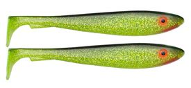 McRubber Shad 29 cm 115g, 2-pack, Black n Chartreuse C19