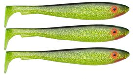 SvartZonker McRubberShad 17cm (3-pack) C19 Black'n Chatreuse