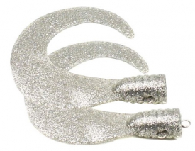 SvartZonker Big Tail (2-pack) - Silverglitter