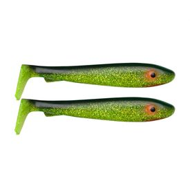 McRubber 21cm (2 pack) - Black'n Chartreuse