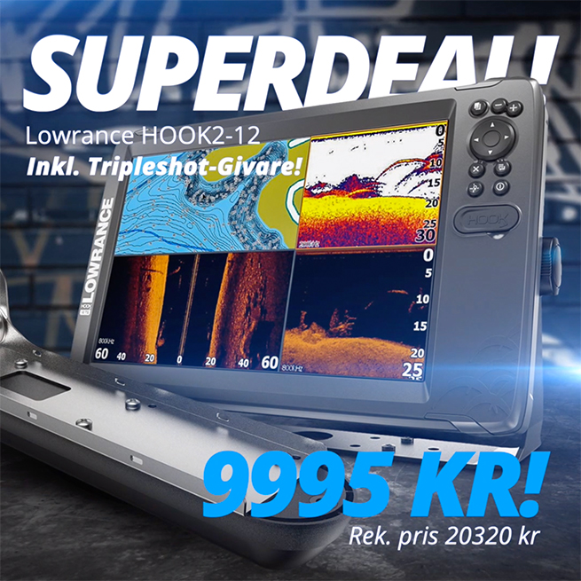 Lowrance Hook2 12 Superdeal!