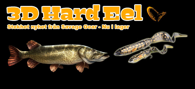 Savage Gear 3D Hard Eel Soft Tail!