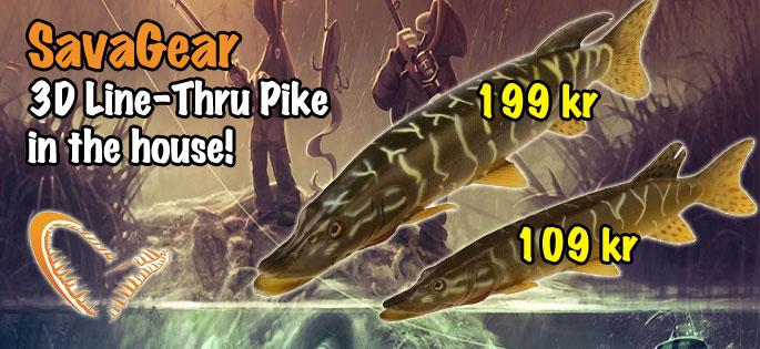 3D Line-Thru Pike Swimbait i lager!