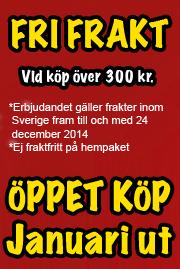 Fraktfritt vid köp över 300 kr - Öppet köp Januari ut!