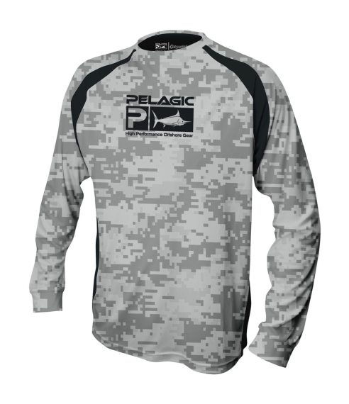 Pelagic Vaportek Digital Camo T-Shirt Grey