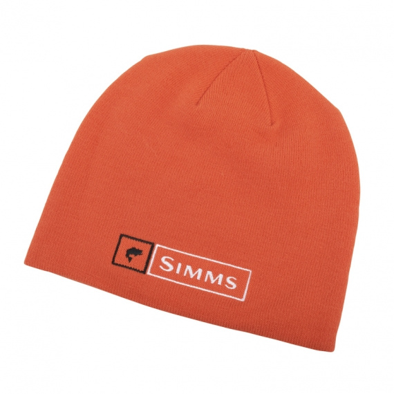 Simms Lockup Beanie Hunter Orange Bass