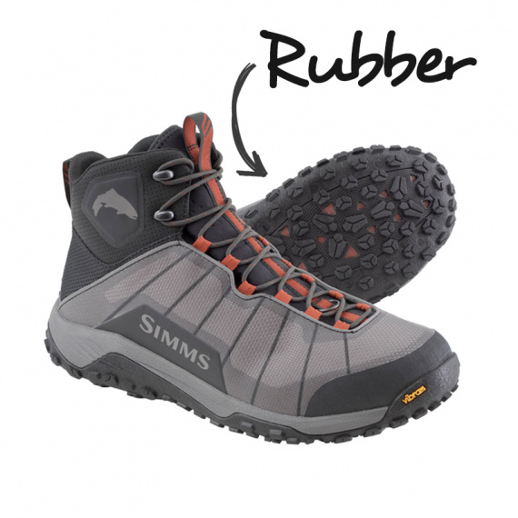 Simms Flyweight Boot Steel Grey (Gummi)