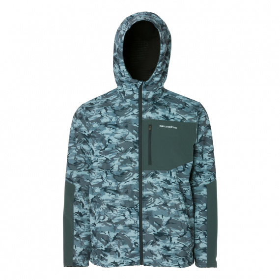 Grundéns Bulkhead Fleece Hooded Jacket, Dark Slate Camo