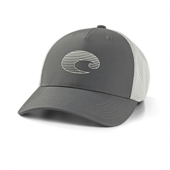Costa XL Trucker Gradient Logo Performance Hat Gray
