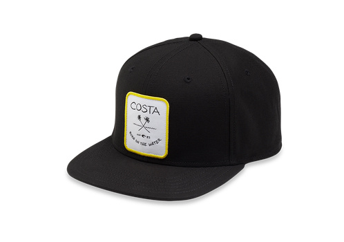 Costa Palms Twill Flat Brim Hat - Black
