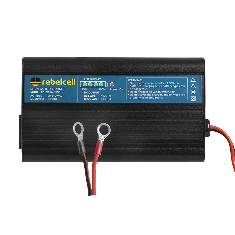 Rebelcell Charger 12.6V10A Li-ion for 12V70/50 AV