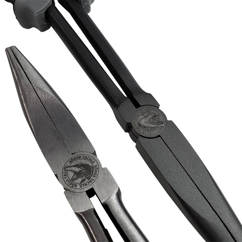 Söder Long Nose Pliers 28cm, Black Carbon Steel